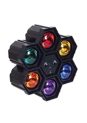Soundlab Black Plastic 6 Pod Light with Sound to Light Control