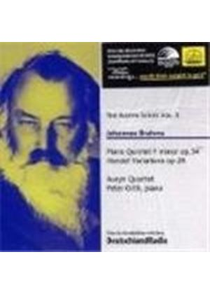 Brahms: Piano Quintet; Variations & Fugue on a Theme by Handel