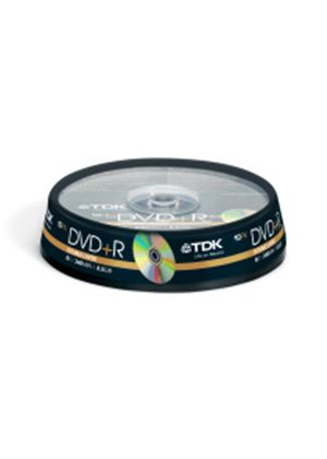 TDK DVD+R 8x Double Layer 10pc Cakebox