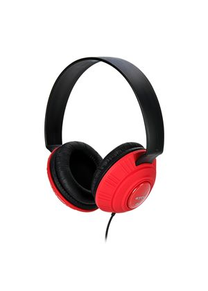 TDK MP100 Lightweight DJ Style Headphones - Red