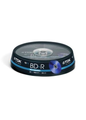 TDK Blu-ray BD-R (6x) 25GB 10 Cakebox