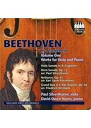 Beethoven: Viola and Piano Works Vol 1 (Music CD)