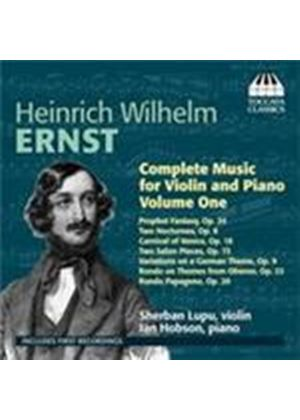 Ernst: Violin and Piano Works Vol 1 (Music CD)