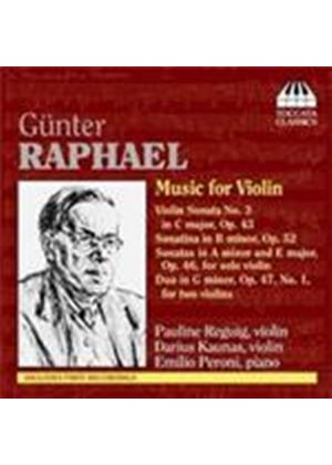 Raphael: Music for Violin (Music CD)