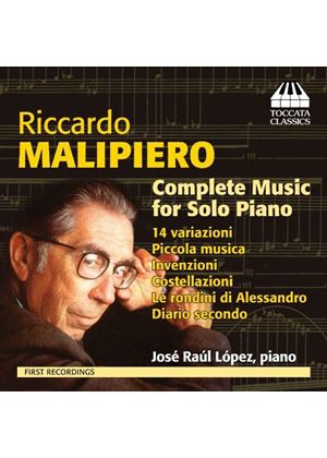 Riccardo Malipiero: Complete Music for Solo Piano (Music CD)