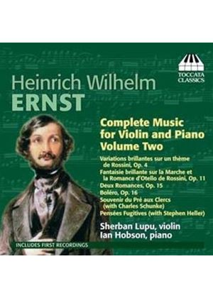 Heinrich Wilhelm Ernst: Complete Music Violin and Piano, Vol. 2 (Music CD)