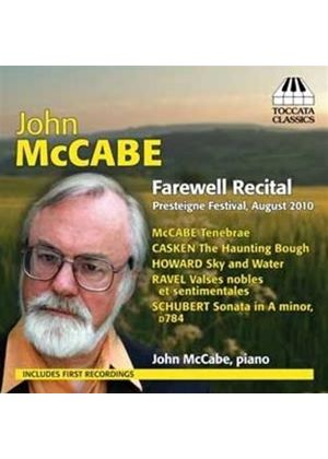 Farewell Recital: Schubert, Rave, Etc. (Music CD)