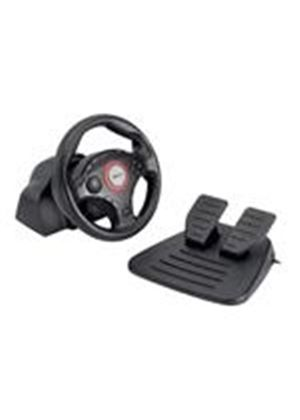 Trust Compact Vibration Feedback Steering Wheel PC-PS2-PS3 GM-3200 - Wheel and pedals set - 12 button(s) - Sony PlayStation 2, PC, Sony PlayStation 3