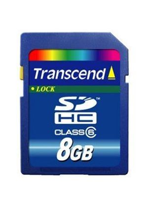 Transcend 8Gb SDHC Class 6 Flash Memory Card