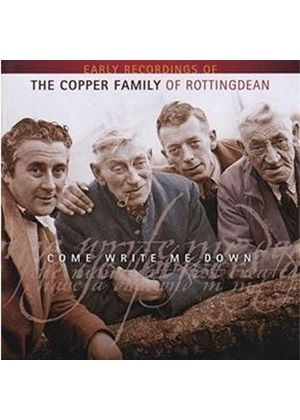 The Copper Family - Come Write Me Down (Music CD)