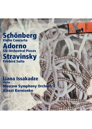 Schönberg: Violin Concerto; Adorno: Six Orchestral Pieces: Stravinsky: Firebird Suite (Music CD)