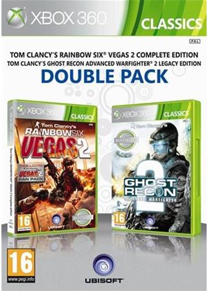 Ubisoft Double Pack - Ghost Recon: Advanced Warfighter 2 / Tom Clancy's Rainbow Six: Vegas 2 (Xbox 360)