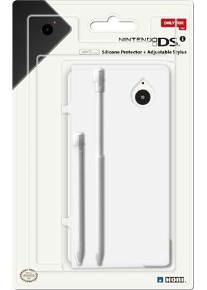 Hori Officially Licensed DSi Silicone Cover Protector & Stylus Set  - White (Nintendo DSi)