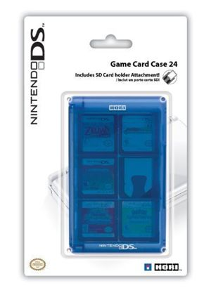 Hori Officially Licensed 24 Card Case -Blue  (Nintendo DS)