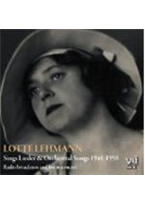Lotte Lehmann sings Lieder and Orchestral Songs