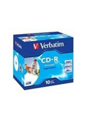 Verbatim - 10 x CD-R - 700 MB ( 80min ) 52x - ink jet printable surface, wide printable surface - jewel case - storage media
