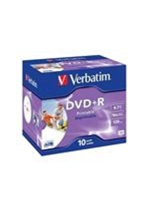 Verbatim DataLifePlus - 10 x DVD+R - 4.7 GB 16x - ink jet printable surface - jewel case - storage media