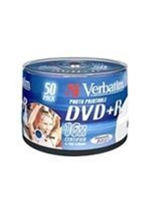 Verbatim 43512 16x DVD+R 4.7 GB Wide Printable (Pack of 50)