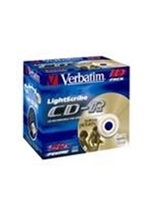 Verbatim - 10 x CD-R - 700 MB ( 80min ) 52x - LightScribe - jewel case - storage media
