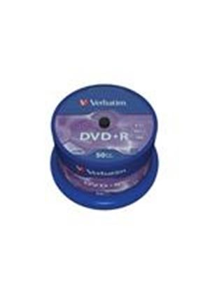 Verbatim - 50 x DVD+R - 4.7 GB 16x - matte silver - spindle - storage media