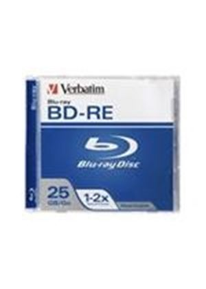 Verbatim - BD-RE - 25 GB 2x - jewel case - storage media