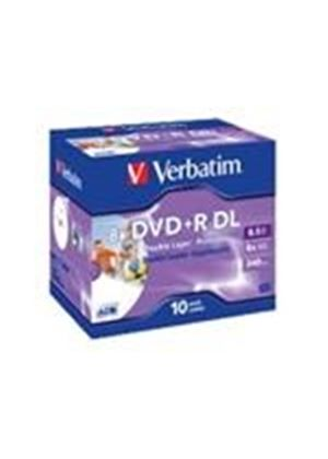 Verbatim - 10 x DVD+R DL - 8.5 GB ( 240min ) 8x - printable surface - jewel case - storage media