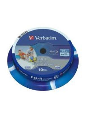 Verbatim BD-R SL LTH Type 25GB 6x Wide Printable 10 Pack Spindle