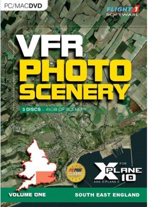 VFR Photo Scenery for X-Plane 10 Volume 1 (PC/Mac DVD)