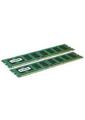 Crucial - Memory - 8 GB : 2 x 4 GB - DIMM 240-pin - DDR3 - 1333 MHz / PC3-10600 - CL9 - 1.5 V - unbuffered - ECC