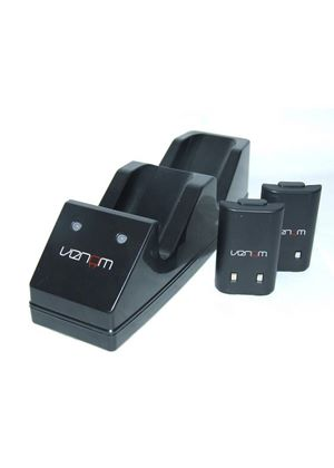 Venom Twin Charging Cradle: Black (Xbox 360)