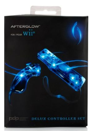 PDP Afterglow AW.3 Remote and Nunchuk Twin Pack - Blue (Wii)
