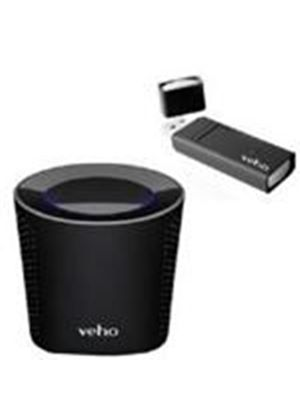 Veho VSS-002W Mimi Wireless Speaker System with USB Dongle (Black)