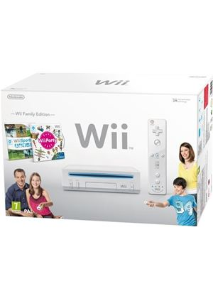 Nintendo Wii Console With Wii Sports + Wii Party + MotionPlus - White (Wii)