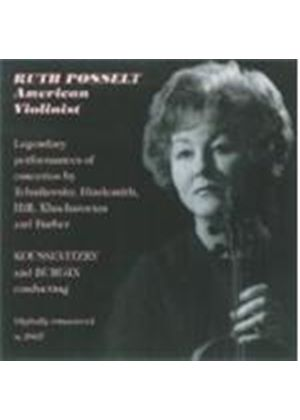 Ruth Posselt - Legendary Concerto Performances