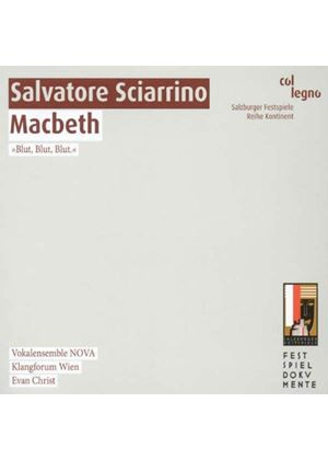 Salvatore Sciarrino: Macbeth (Music CD)