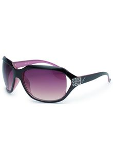 Miami in Brown Pink and Diamante Detail Sunglasses