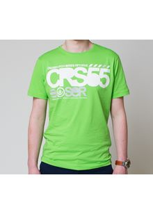 Sect Block Printed Mens T-shirt in Green Flash