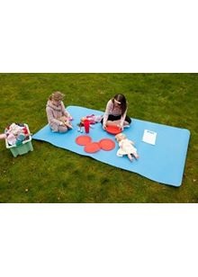 Indoor Outdoor Picnic Rollup up blue mat