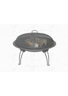 Steel Firebowl With Safety Cover