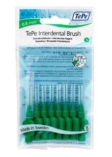 Interdental Brush Green (0.8mm 8 Pack)
