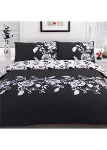 Kensington King Duvet Cover Set Black