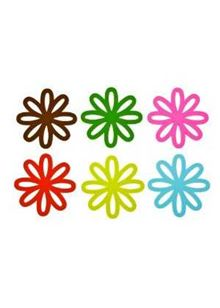 Coaster Set Daisy PVC Assorted
