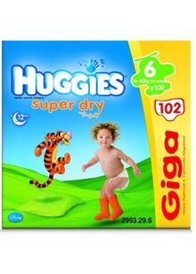 Super Dry Size 6 Giga Pack (102 nappies)