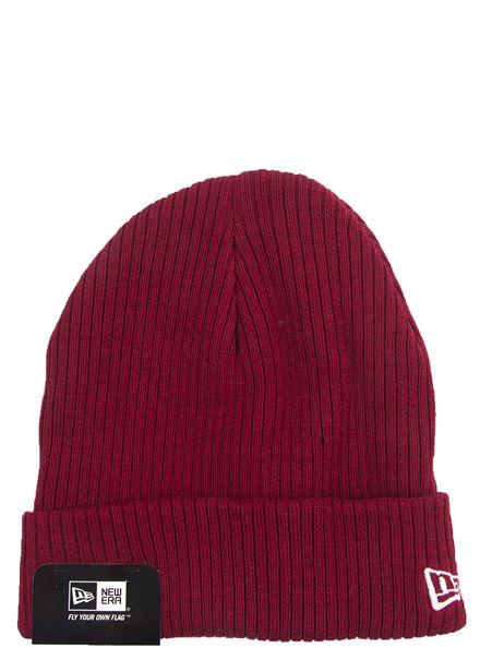 New Era Men's Ribbed Shorty BEANIE HAT In RED **BNWT**
